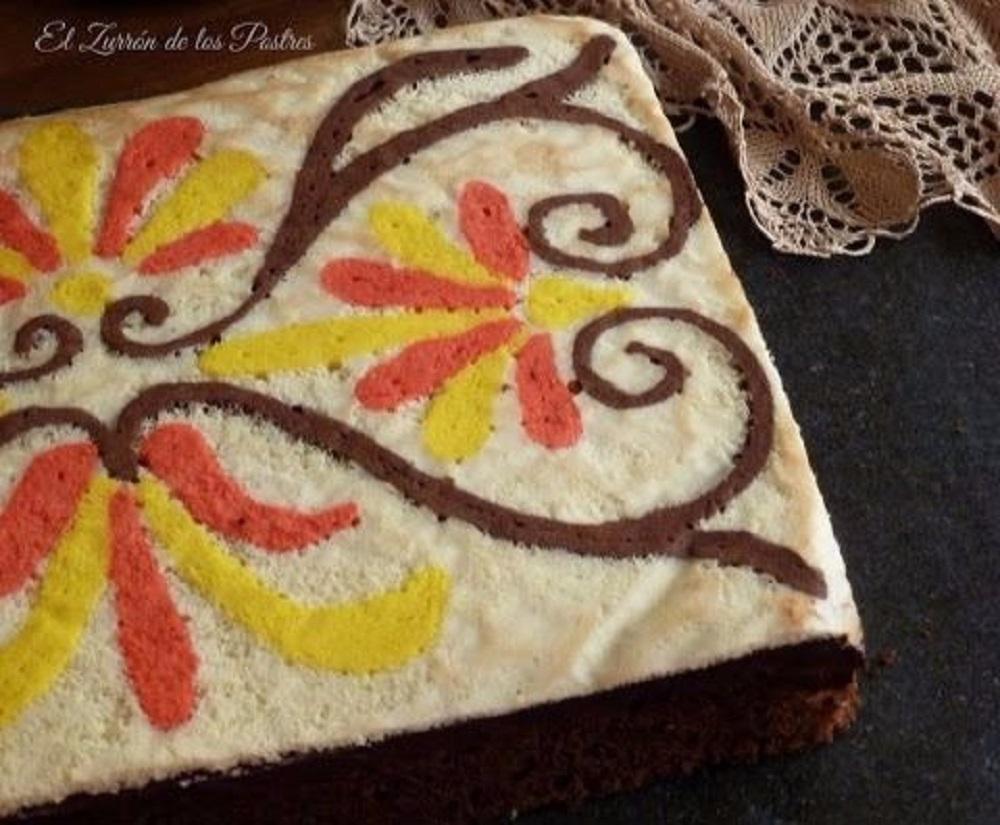 Pastel Arabesco de Cacao y Naranja