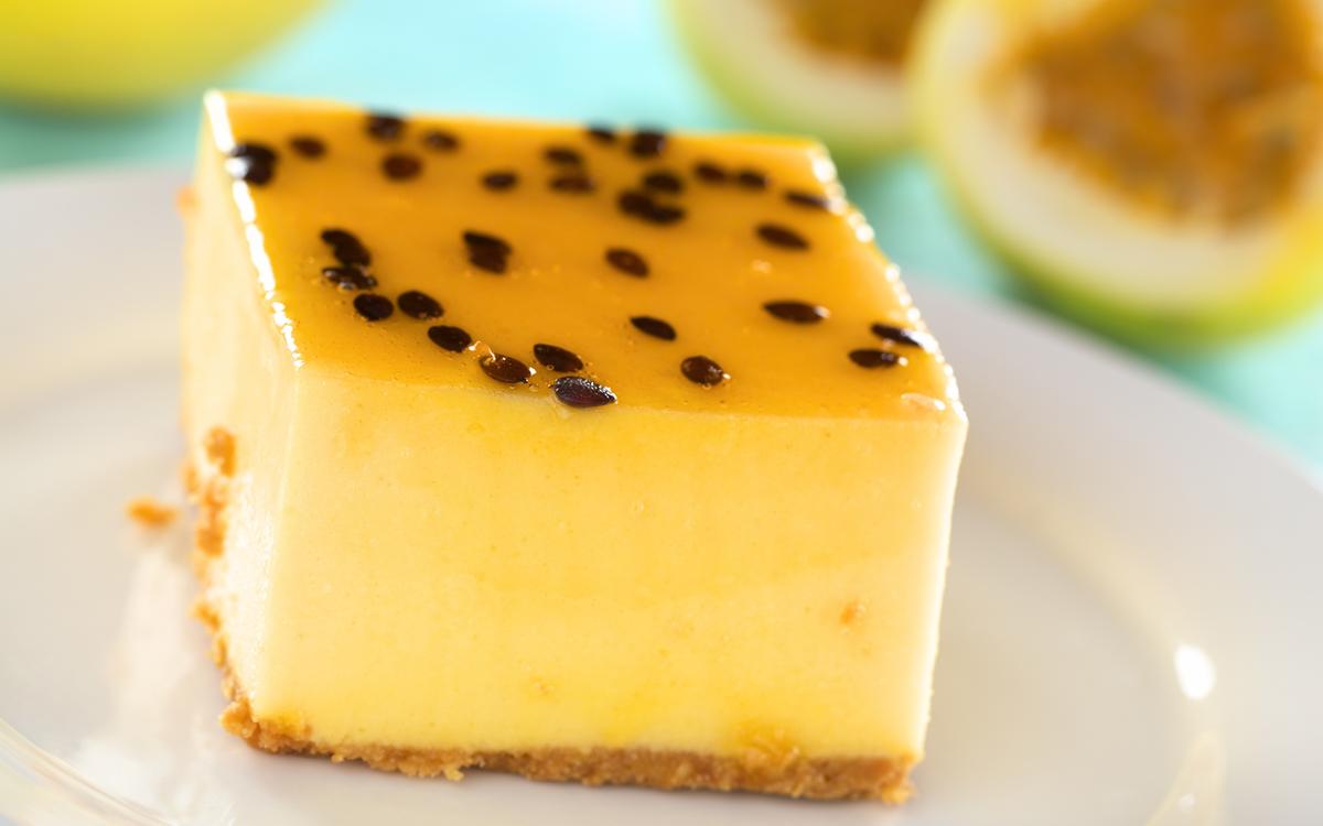 Pastel de fruta de la pasión sin lactosa