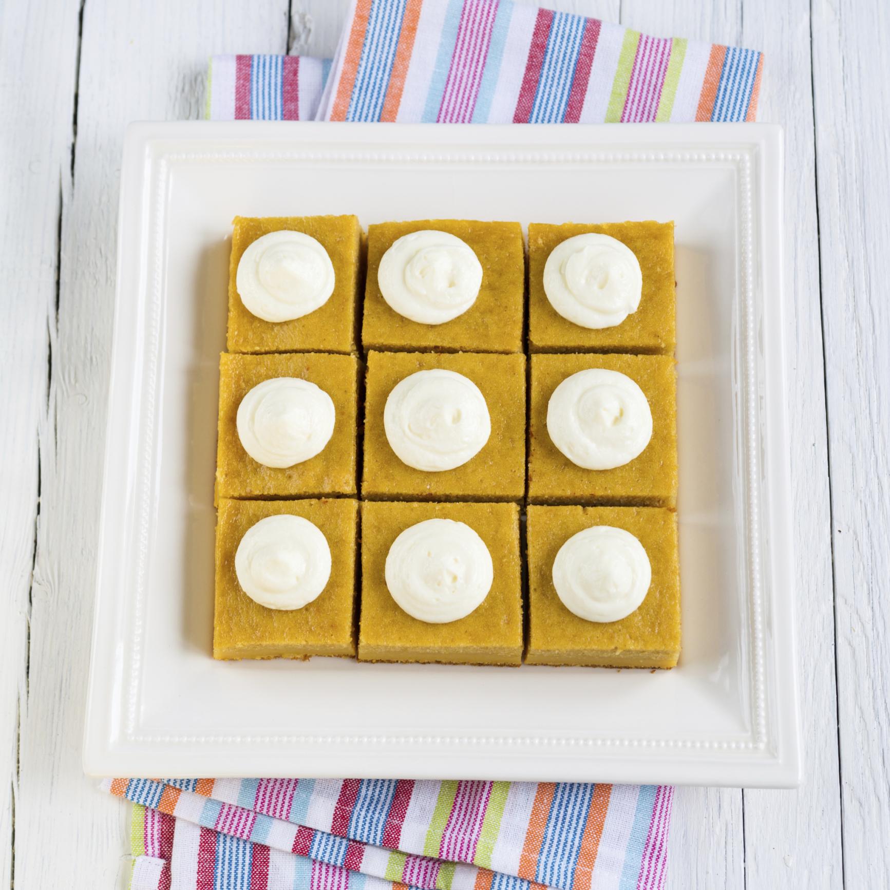 Pasteles dulces de calabaza y albaricoques