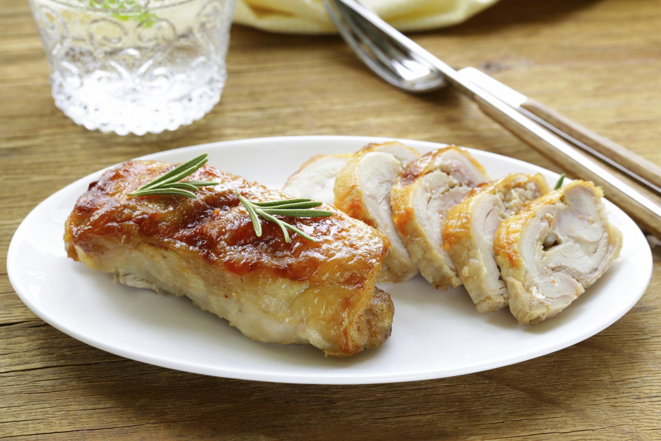 Pechuga de pollo con jamón y queso