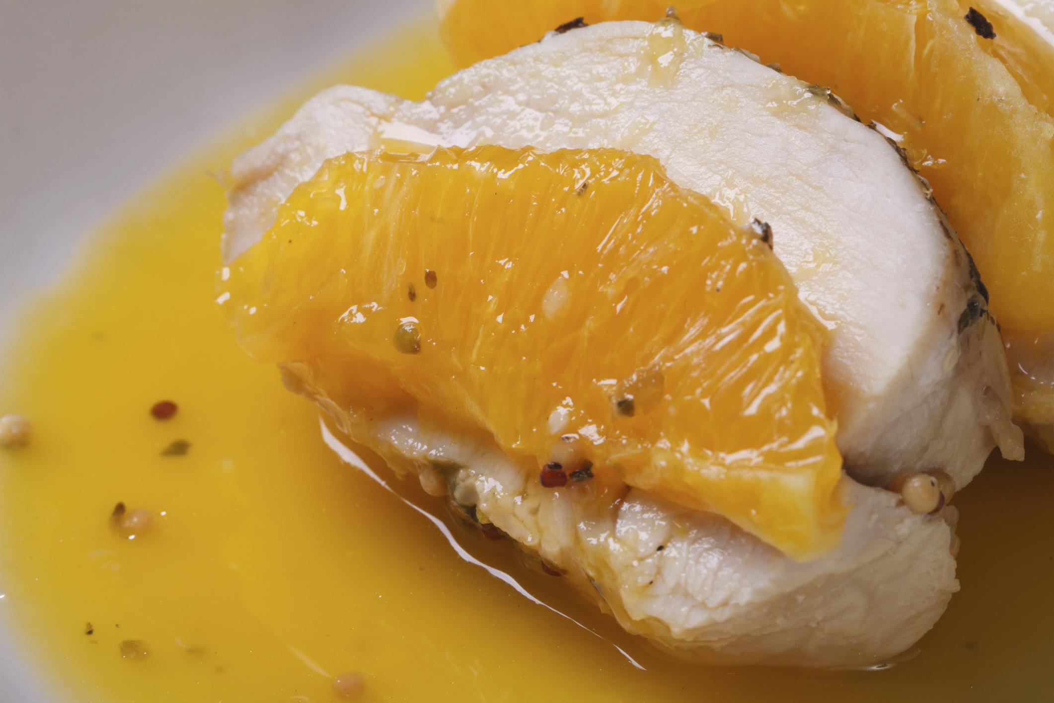 Pechugas de pollo a la Naranja