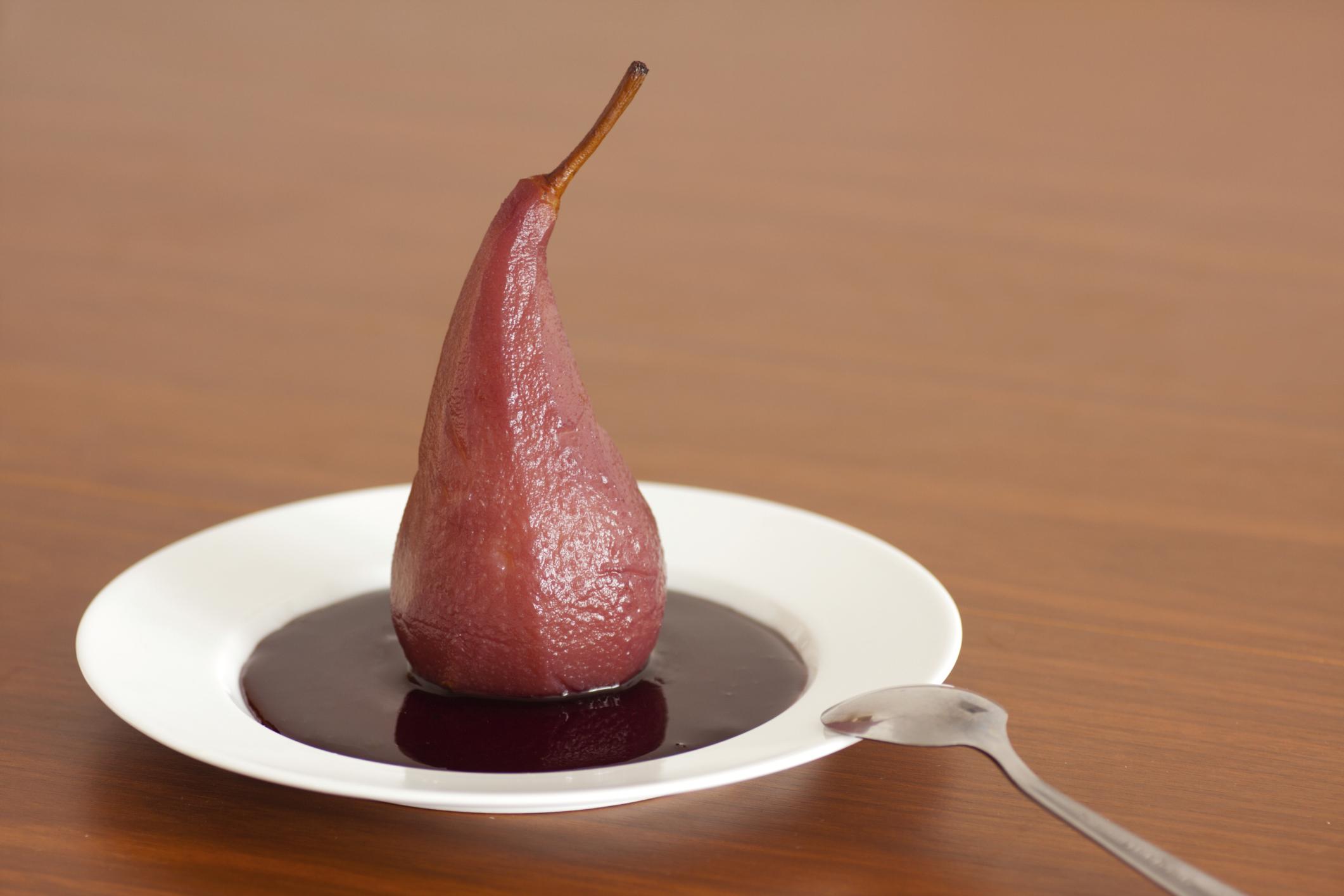 Peras dulces con vino de Jumilla