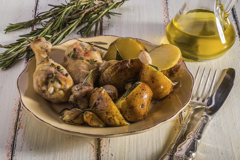 Picantones picantes con patatas