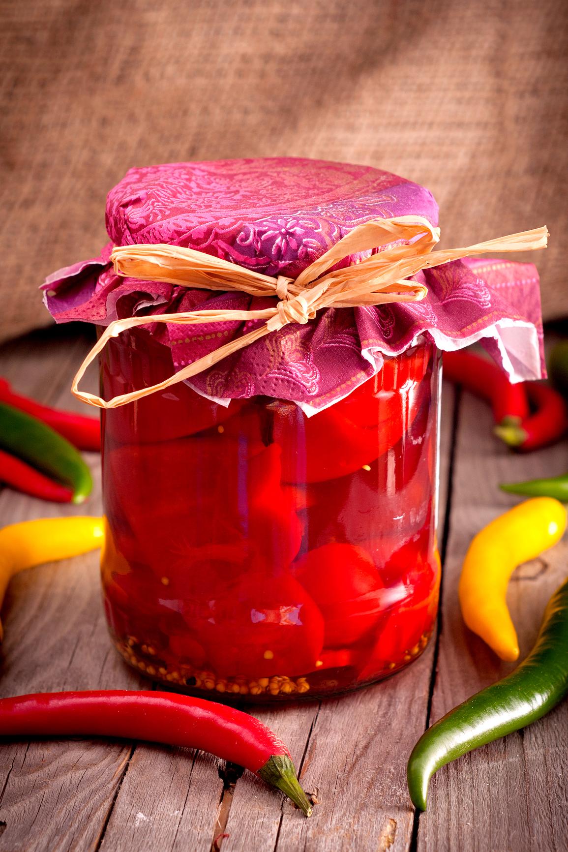 Pimientos rojos macerados