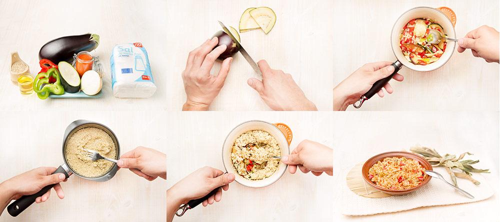 Pisto con quinoa