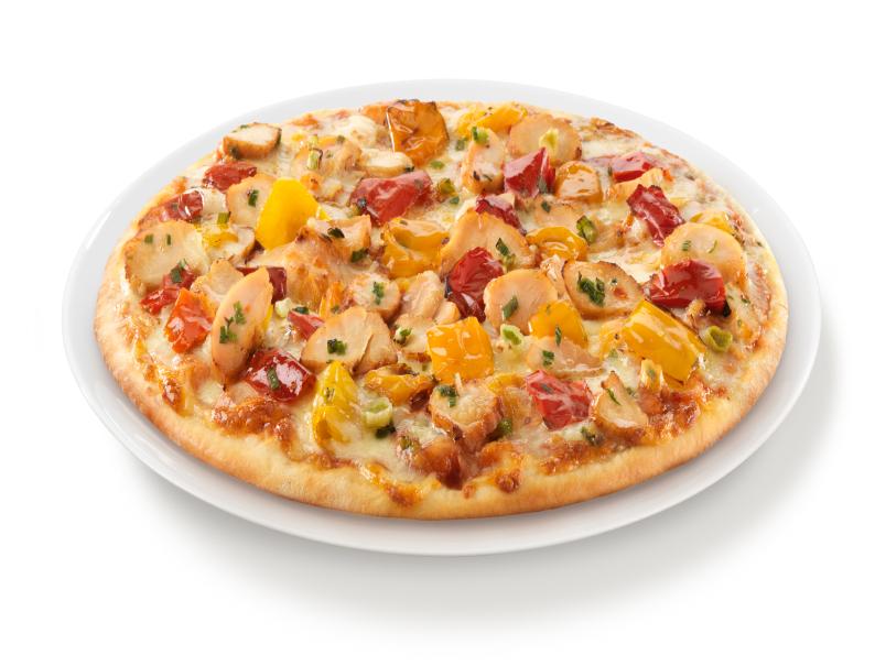 Pizza de pollo gourmet