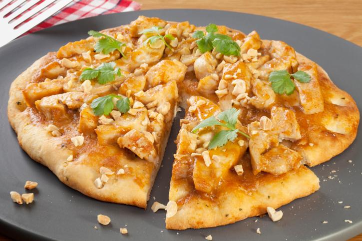 Pizza exquisita de pollo