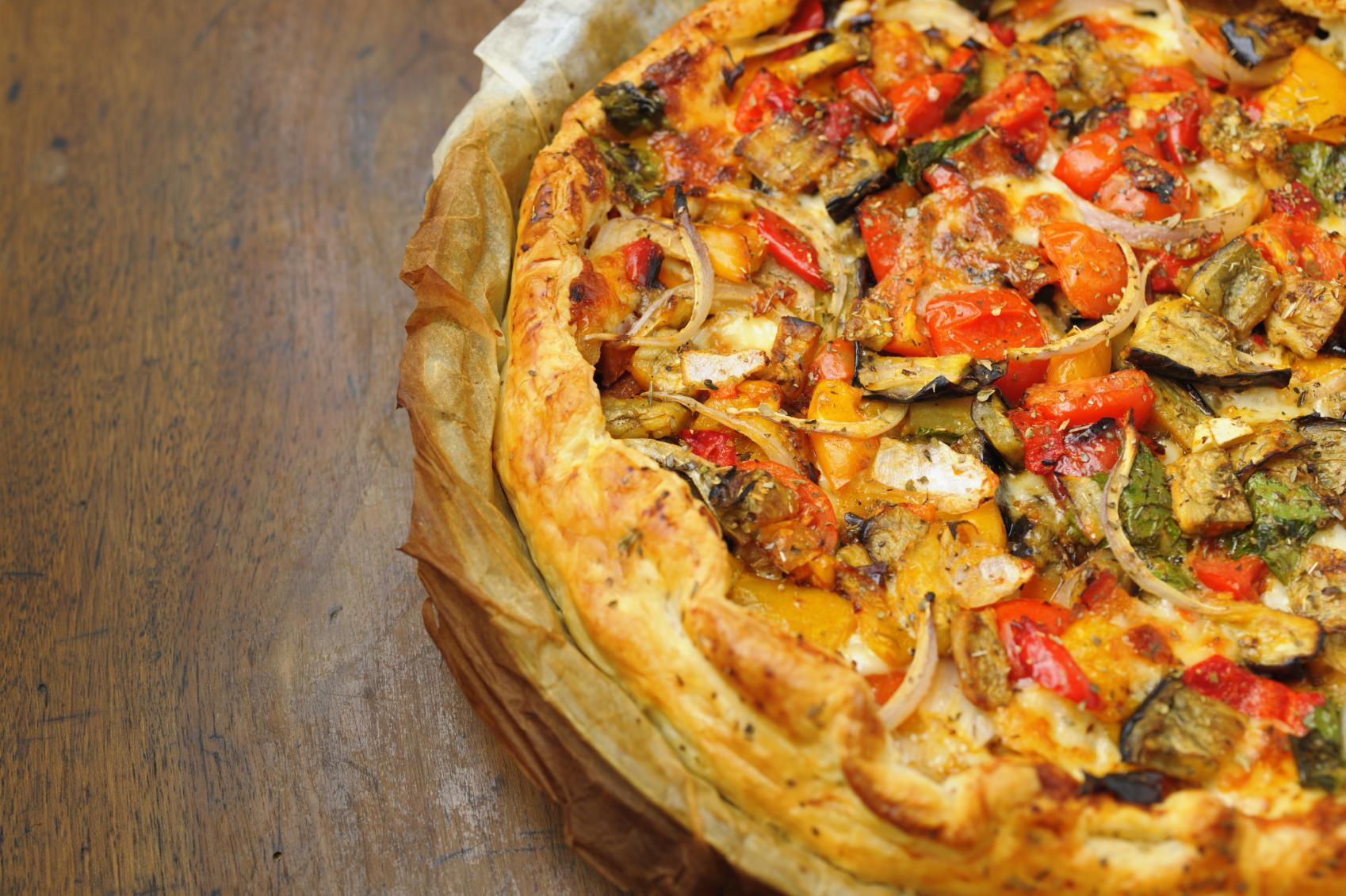 Pizza fácil de verduras