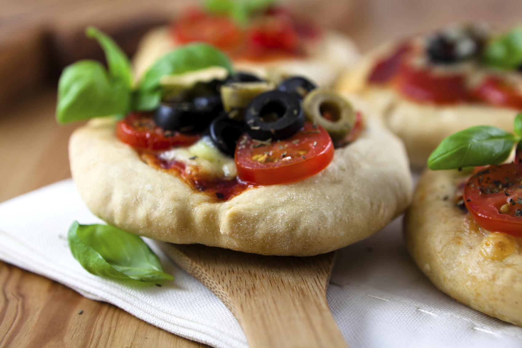 Pizzetas mediterráneas