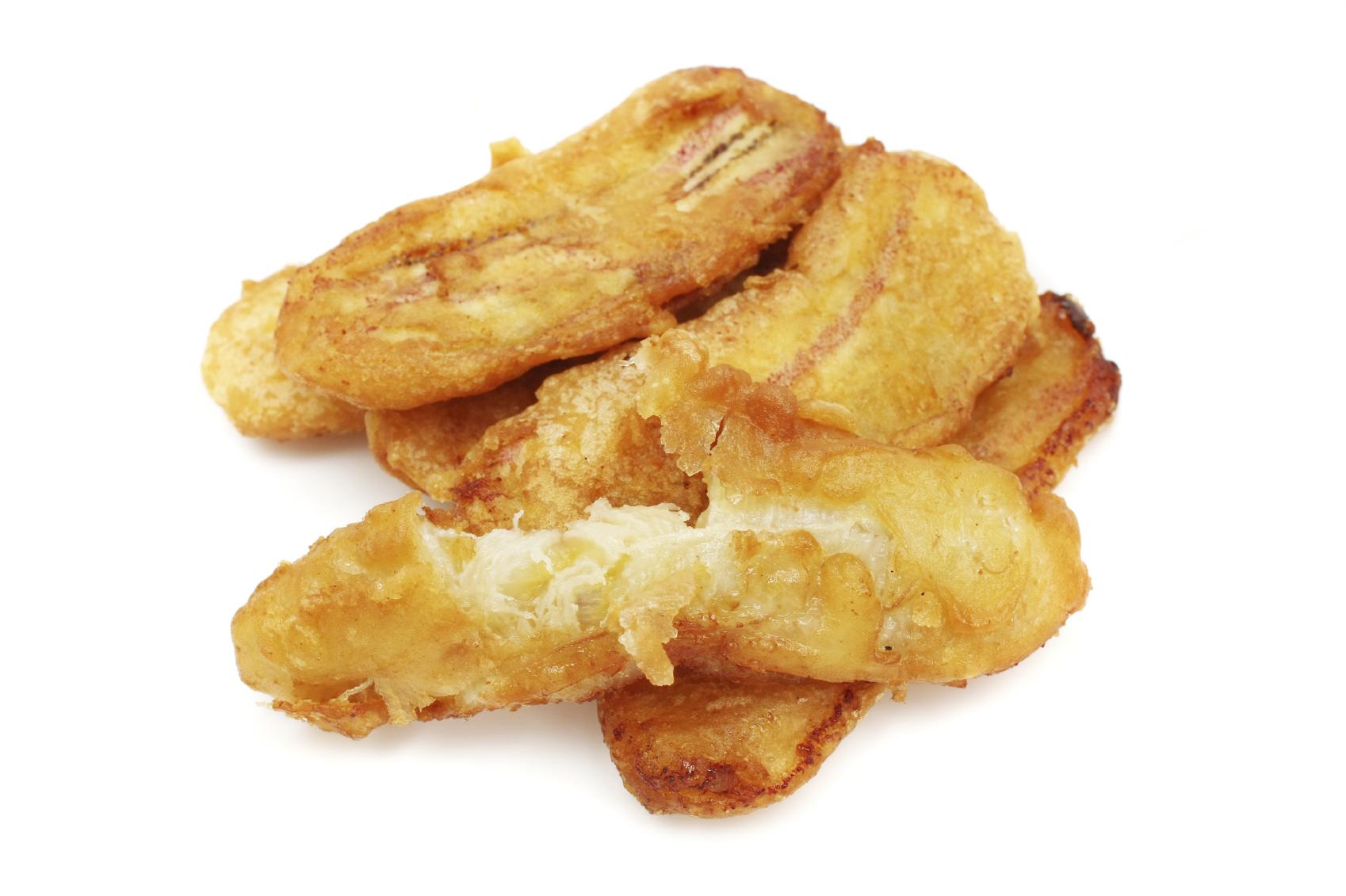 Plátanos fritos rellenos de queso
