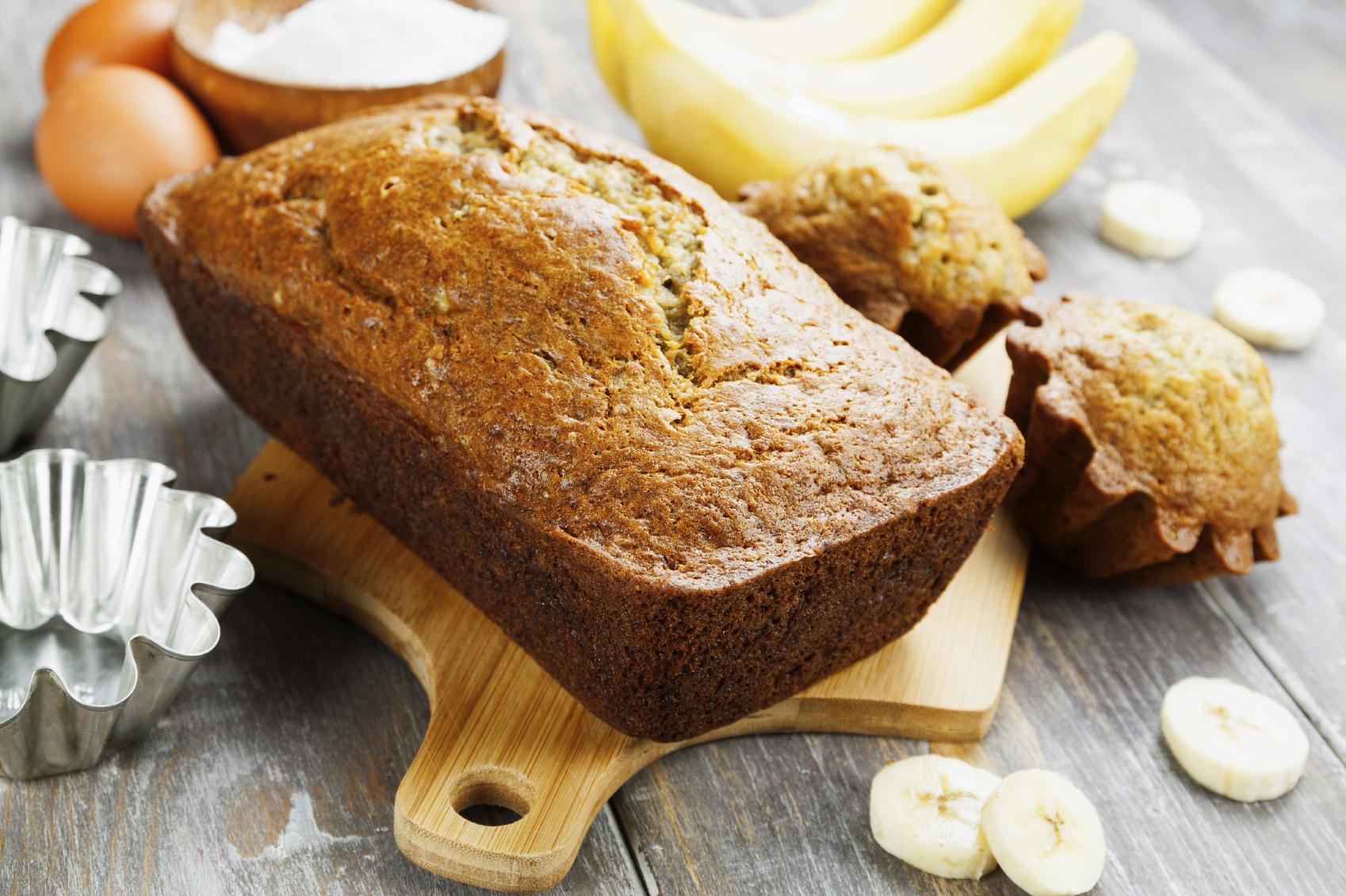 Plum cake de plátano