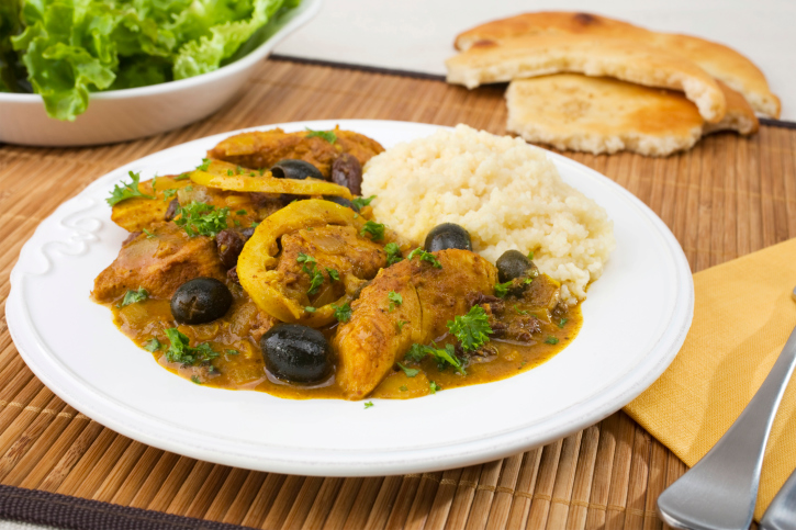 Pollo al horno estilo marroqui