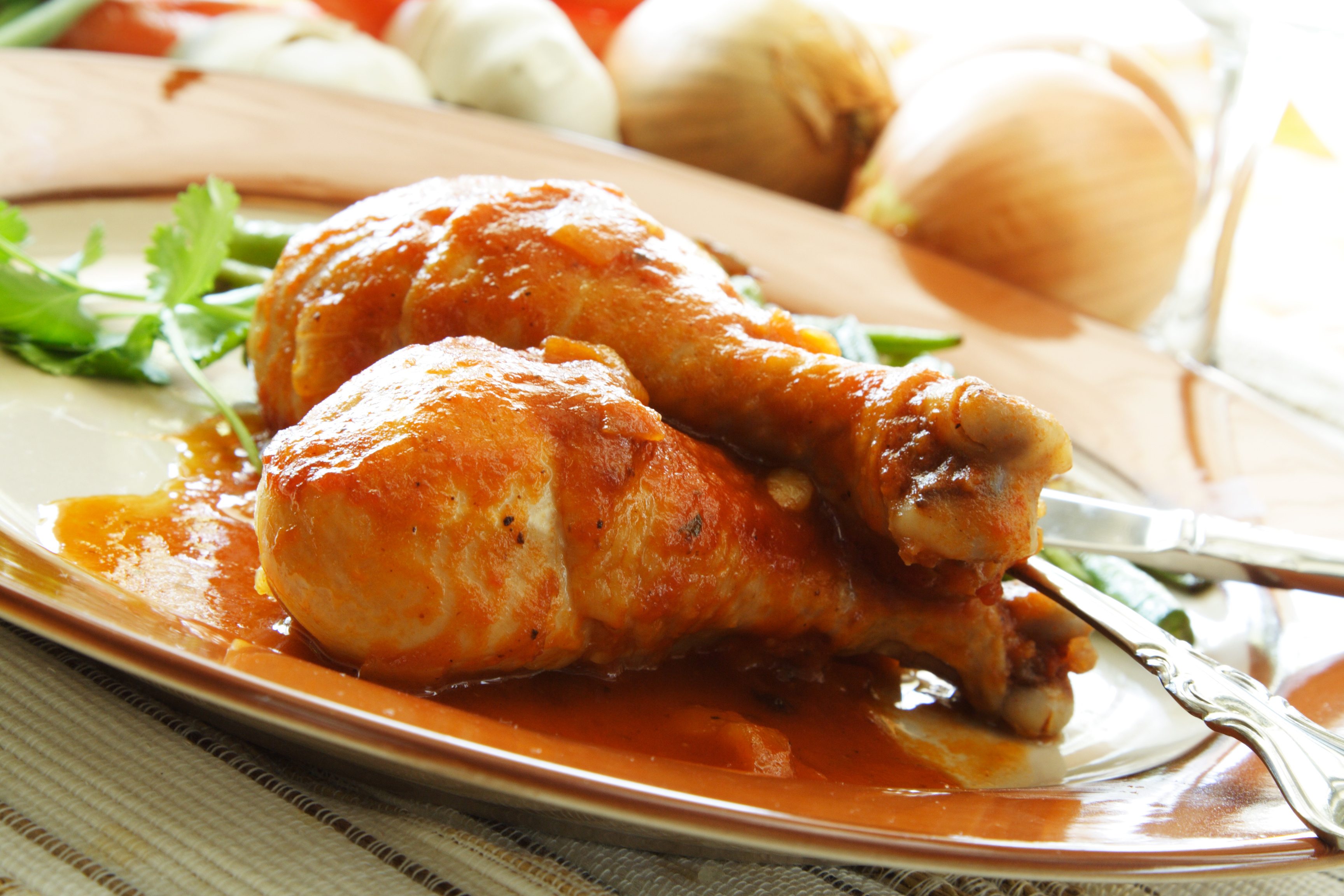 Pollo en salsa de zanahorias
