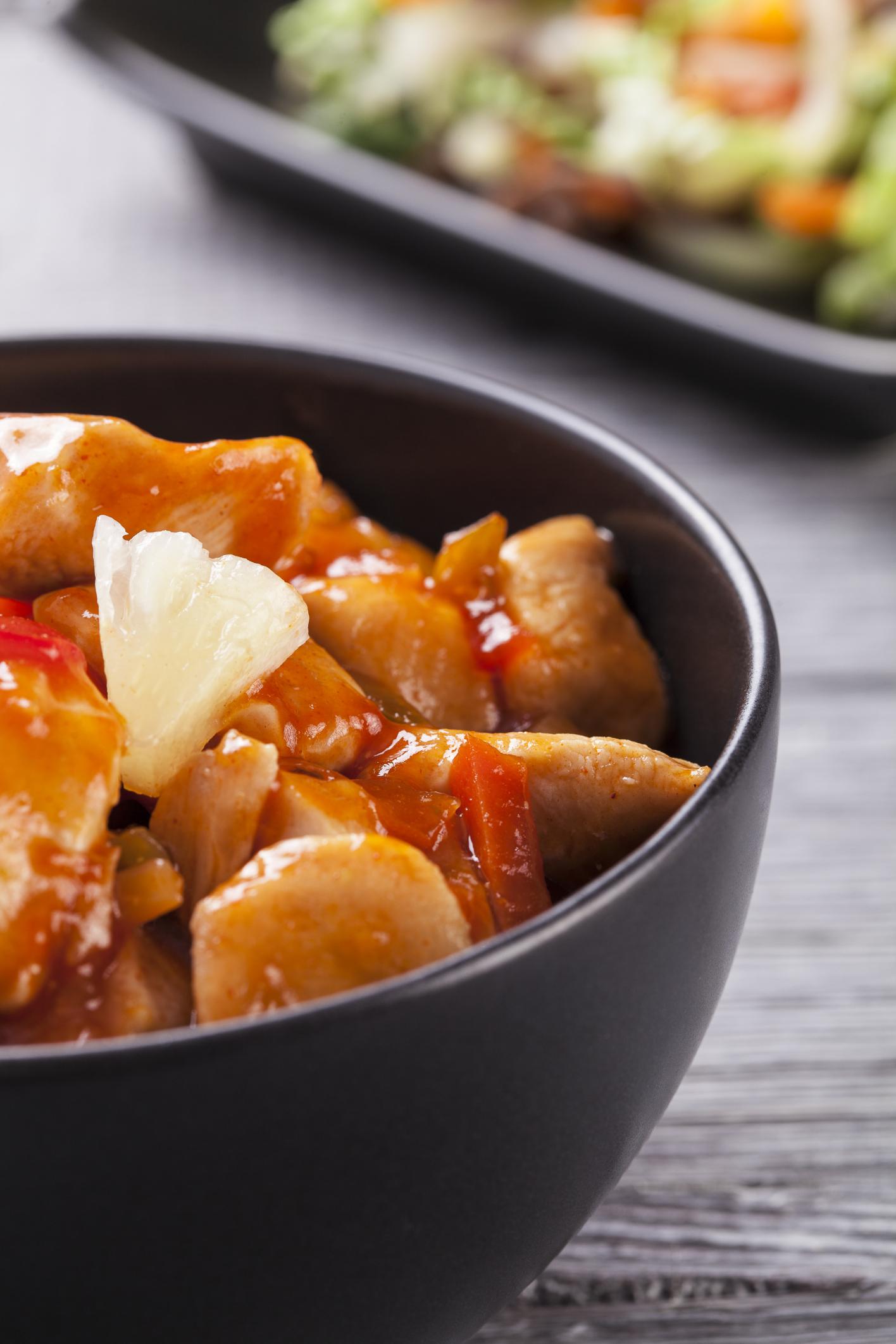 Pollo con anacardos y toques thai