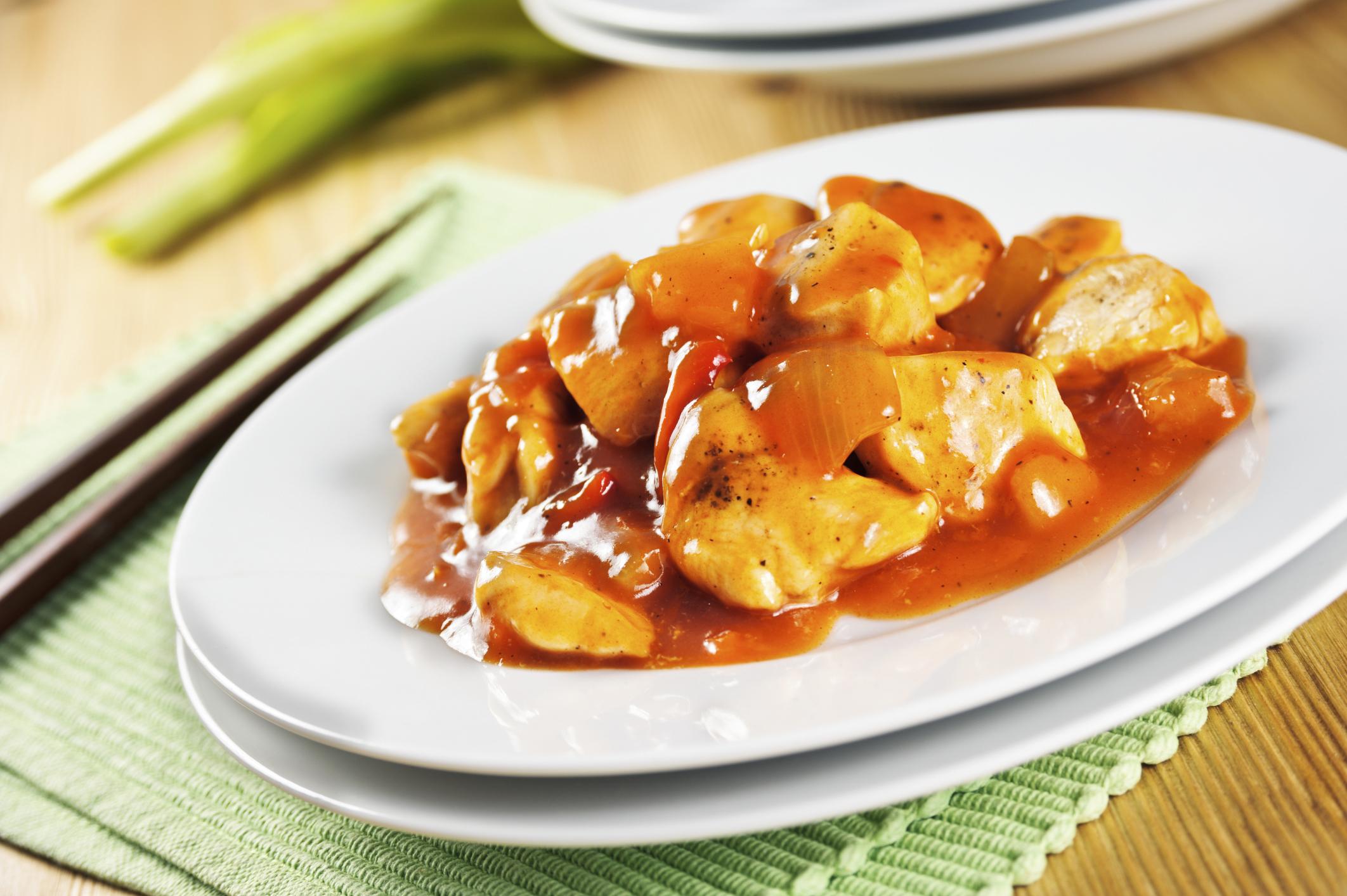 pollo con salsa china
