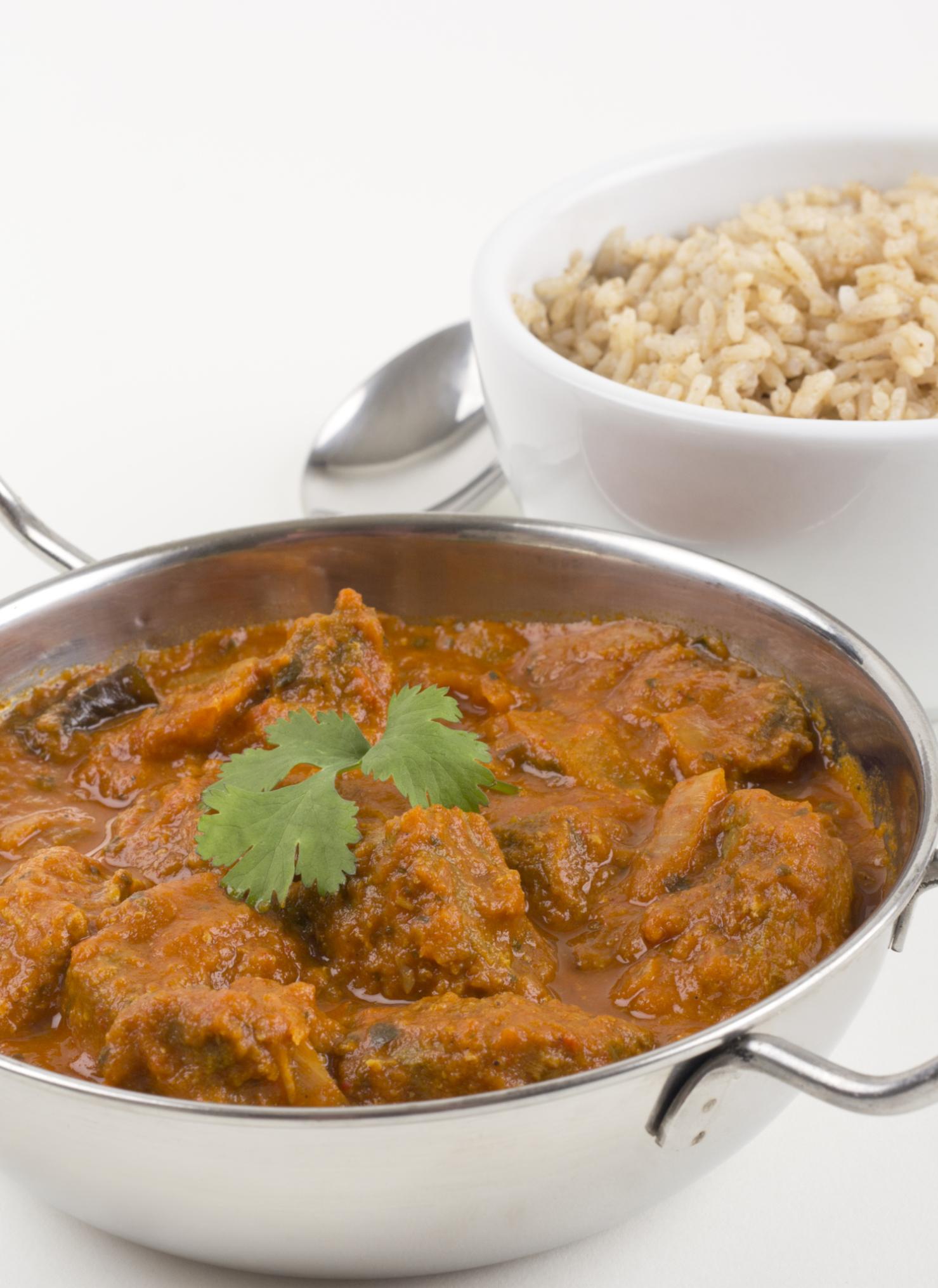 Pollo pakistaní y arroz canelado