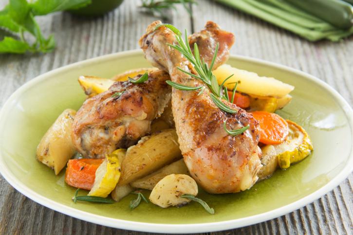 Pollo en adobo  al horno