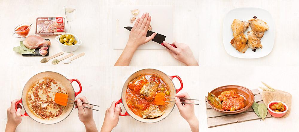 Pollo con tomate