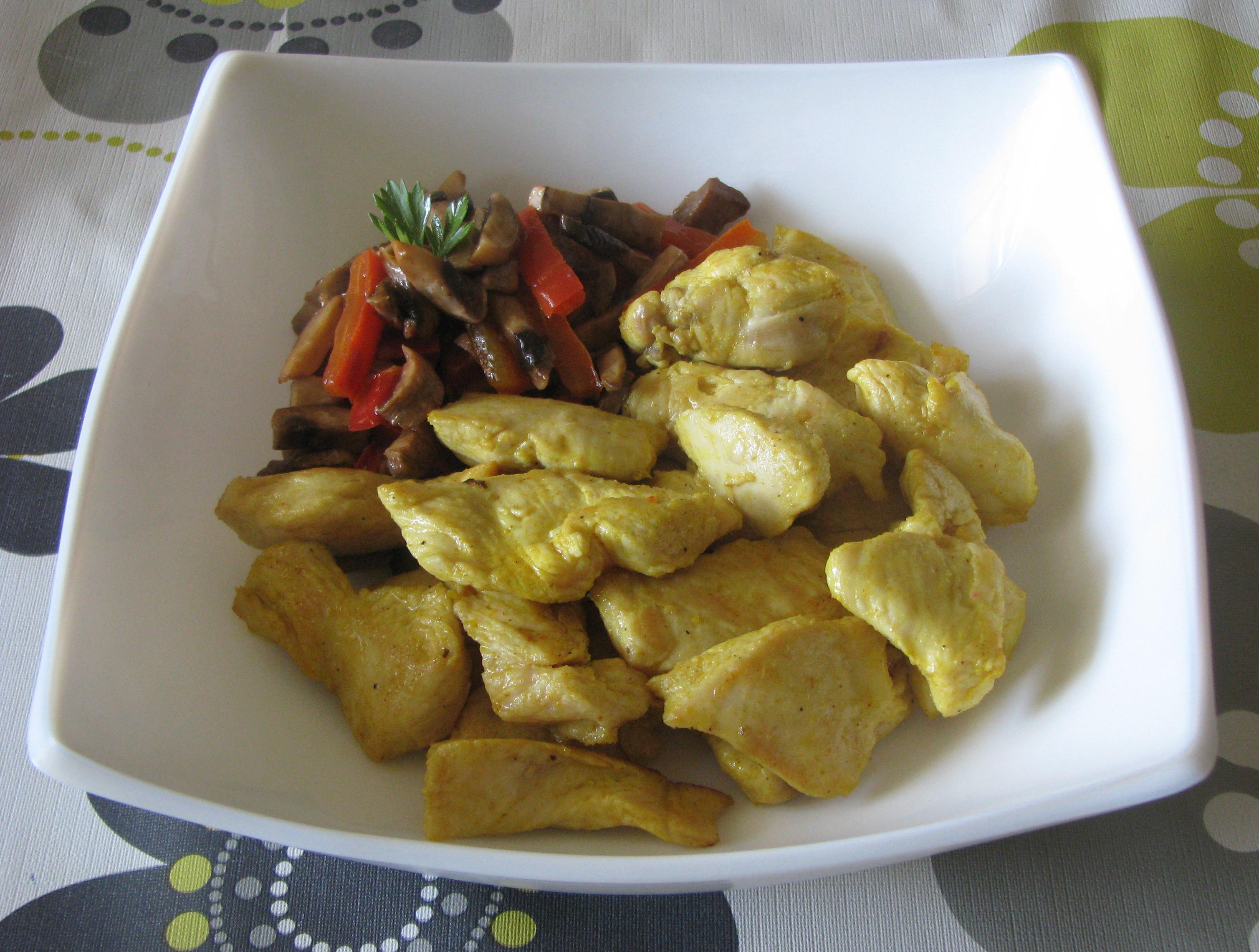 Pollo ras-el-hanout con verduras