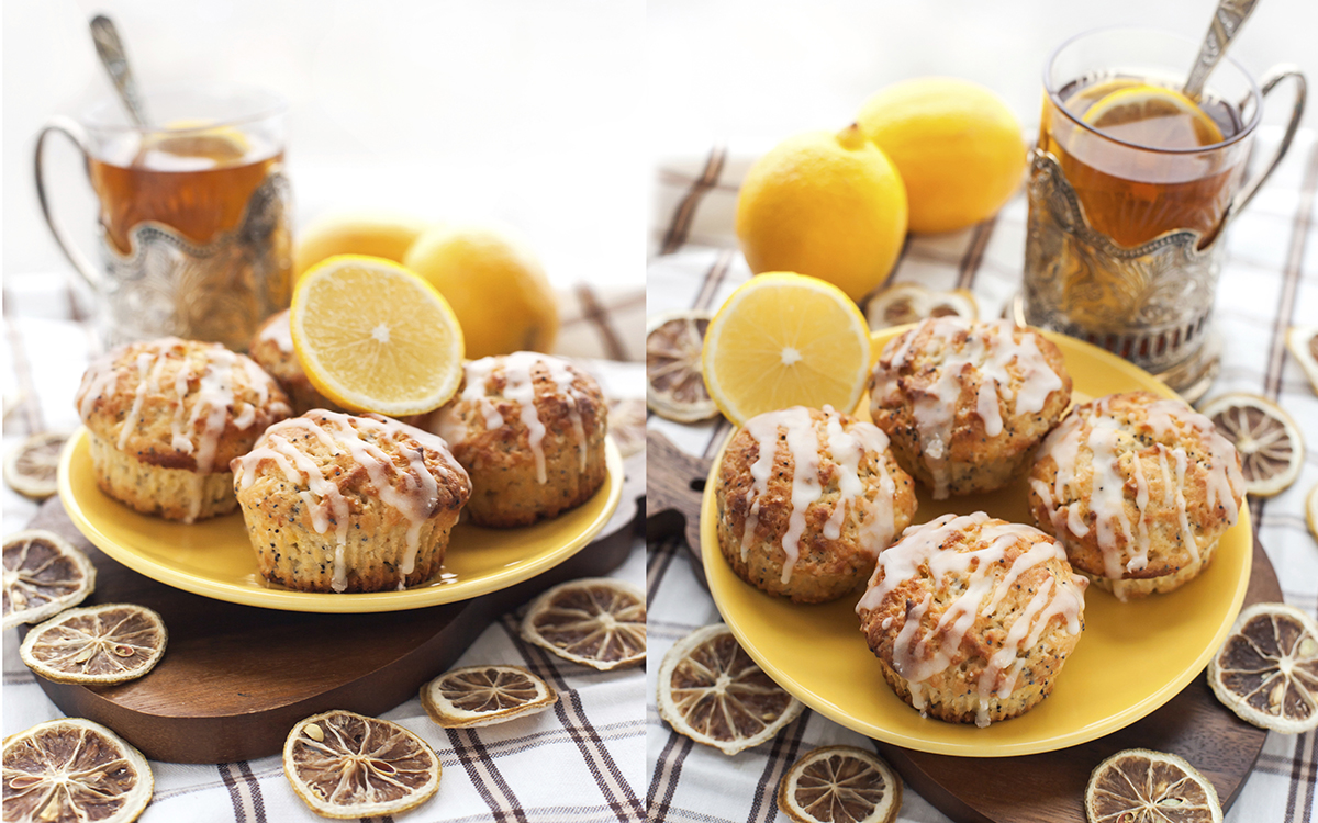 Poppy muffin de limón