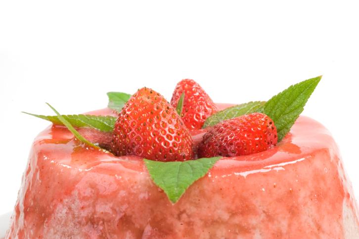 Postre de fresas y yogur