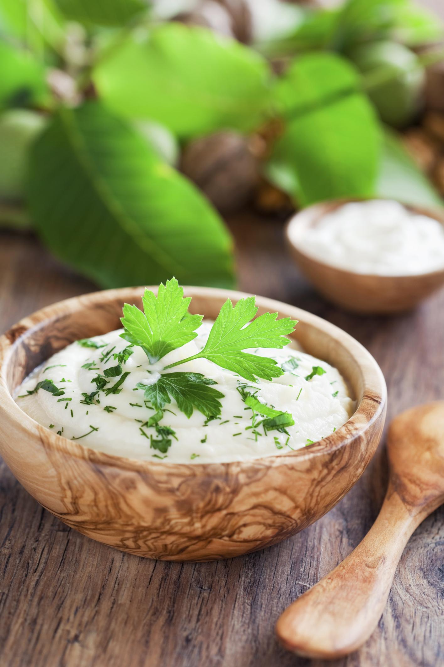 Puré de patata y coliflor con cilantro