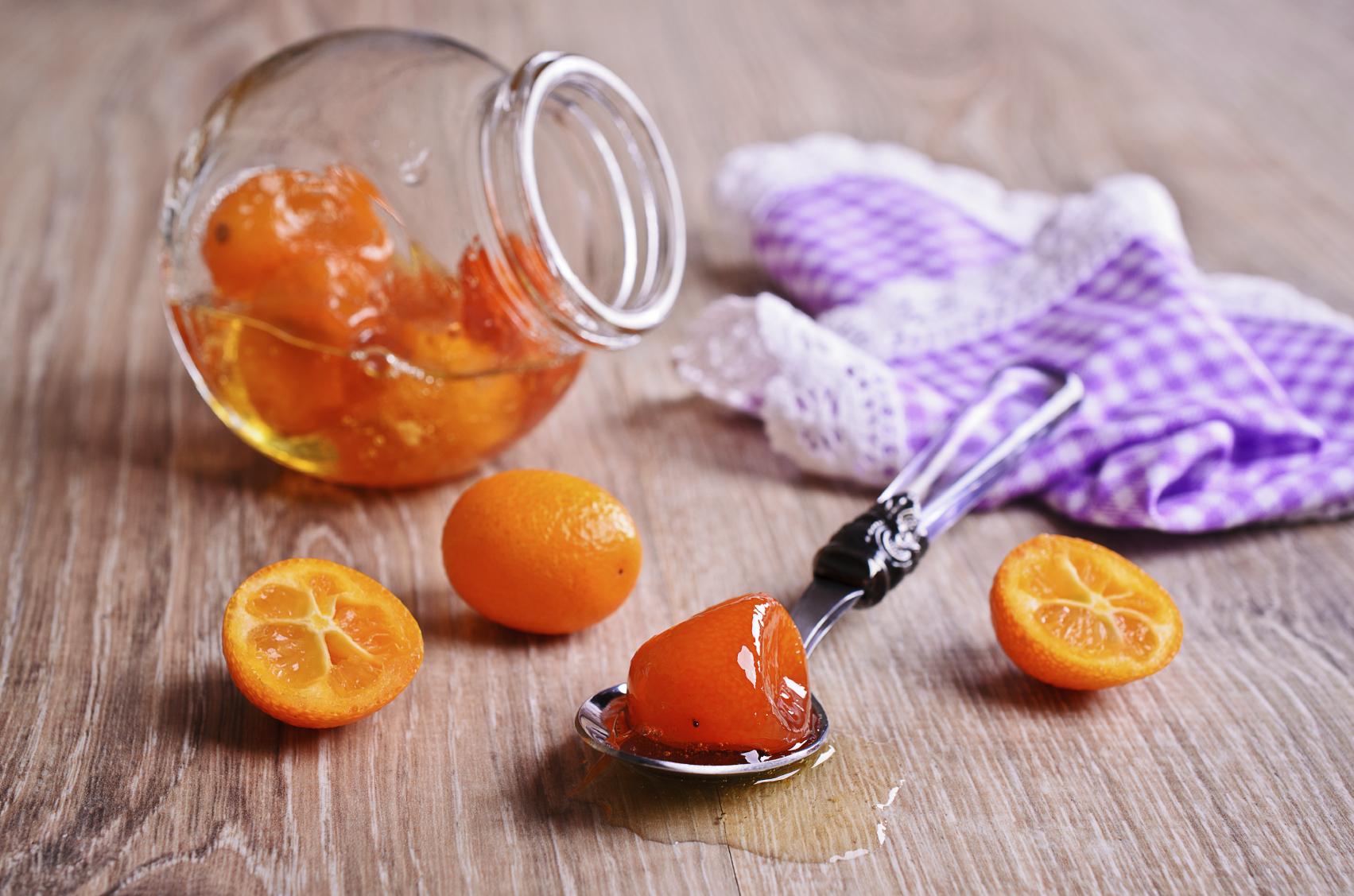 Naranjas chinas en almíbar