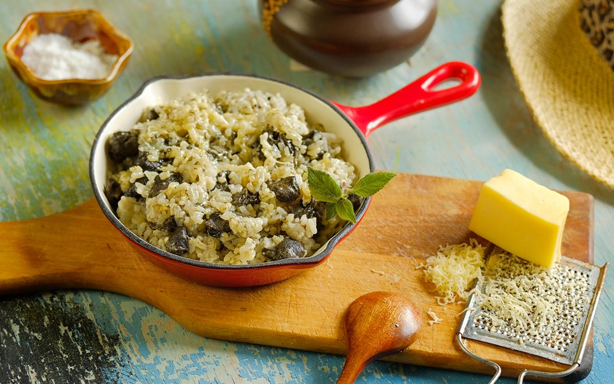 Risotto de setas shiitake con Grana Padano