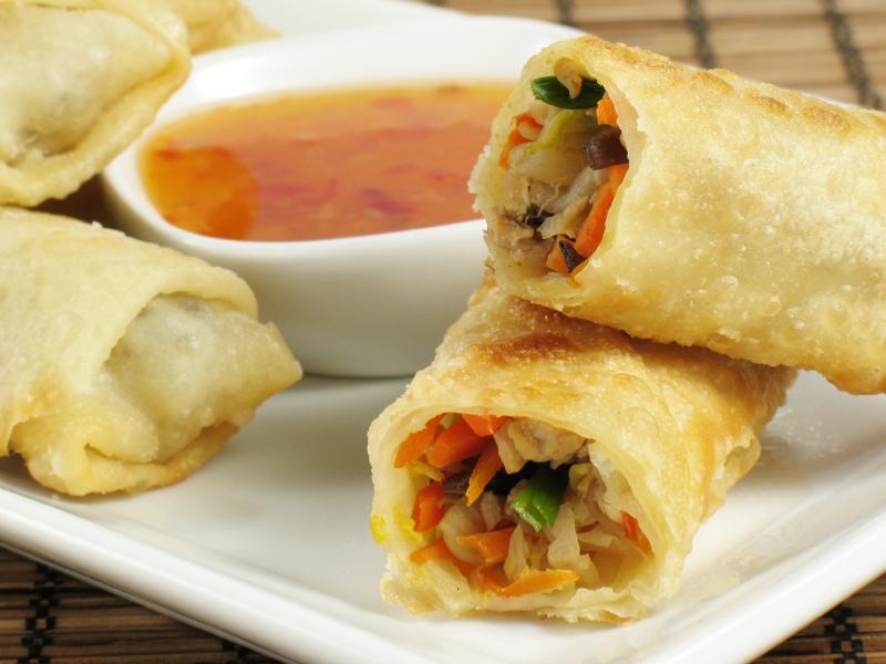 Rollitos chinos de verdura