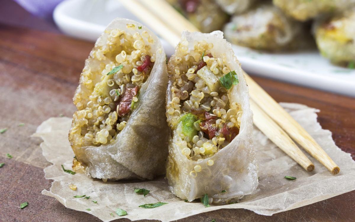 Rollitos de primavera con quinoa