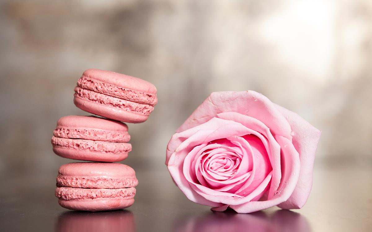 Macarons de rosas