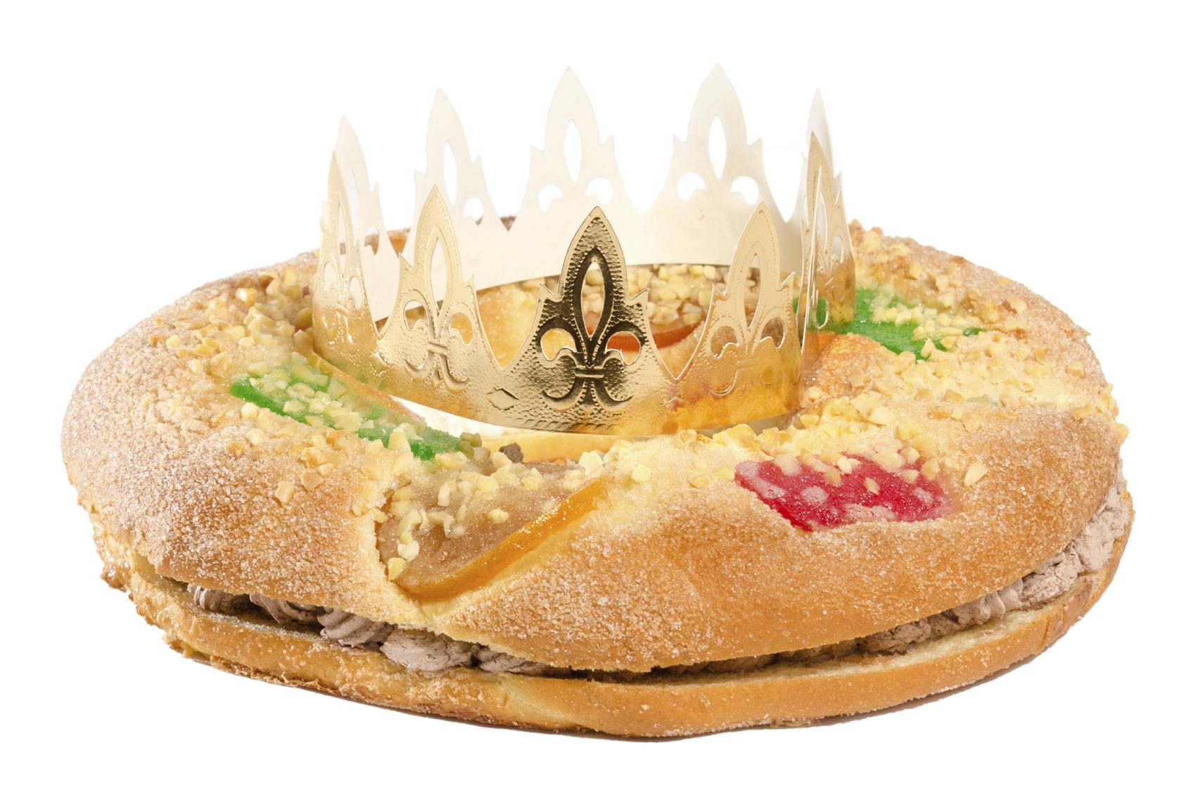 Roscón de Reyes relleno de chocolate