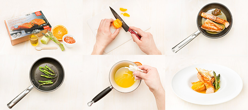 Salmón a la plancha con mermelada de naranja amarga