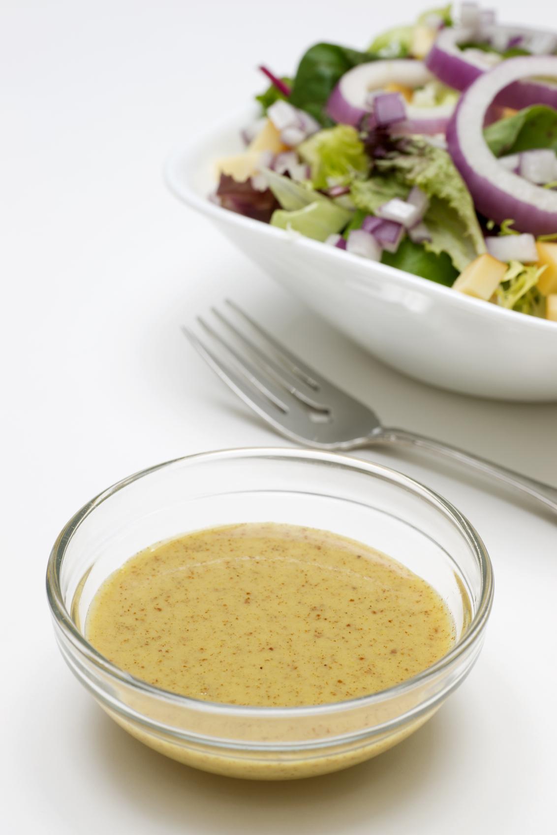 Salsa vinagreta con mostaza
