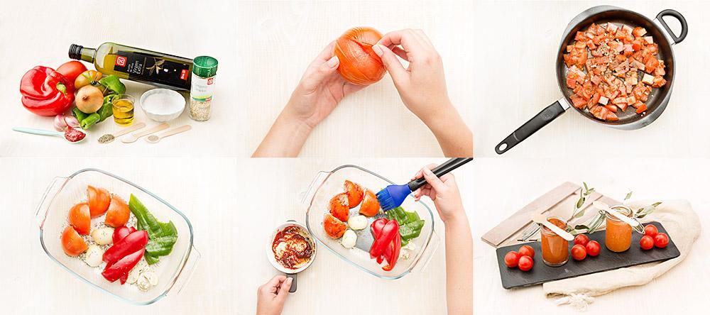 Salsa de tomate · dos versiones