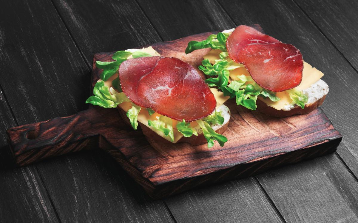 Sándwich de cecina