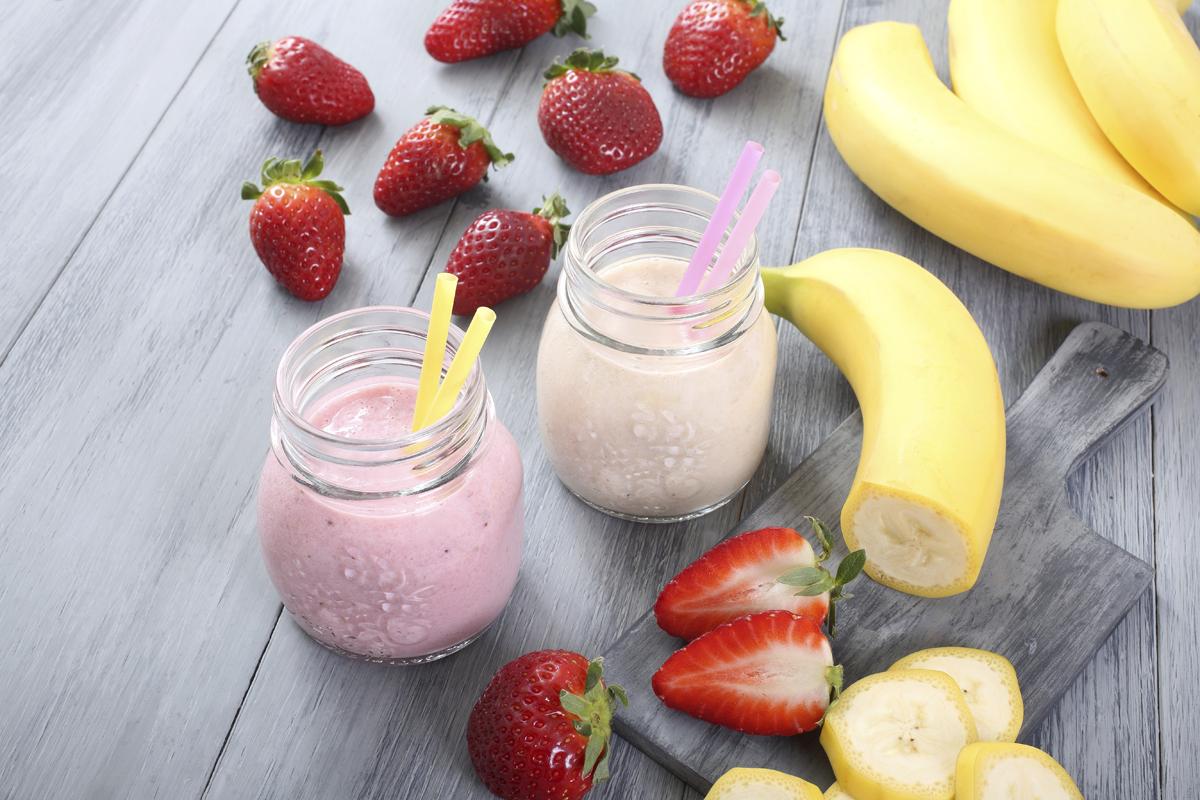 Smoothie de fresa y plátano
