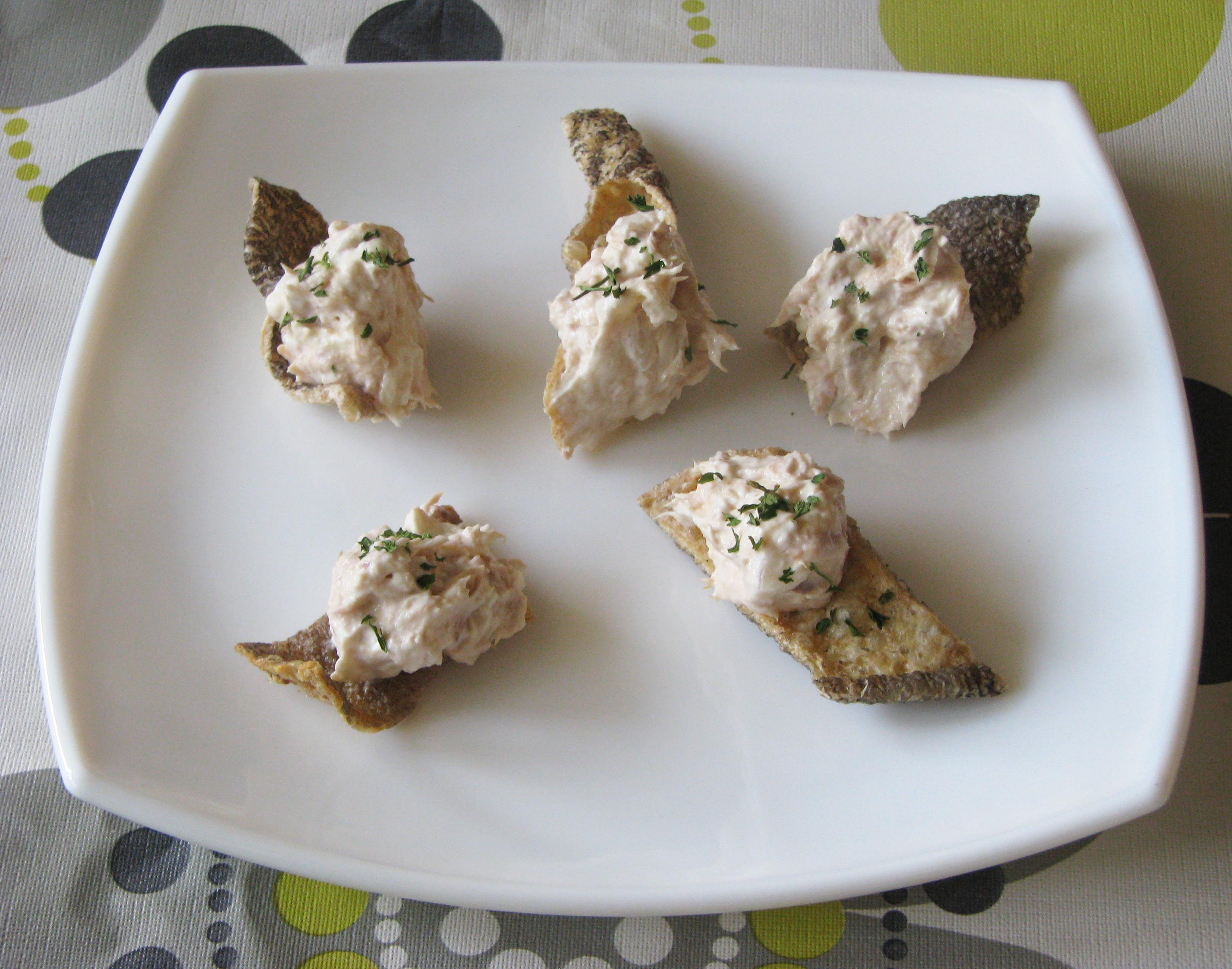 Cucharaditas de bacalao con paté de atún