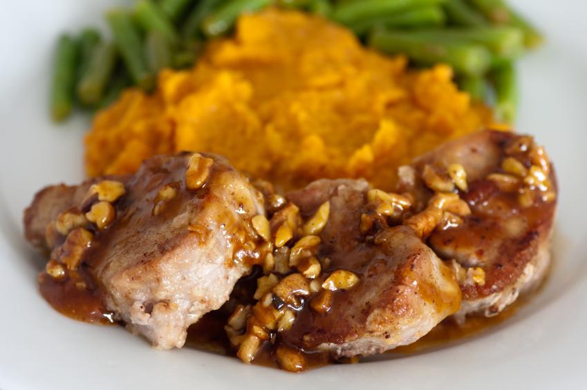 Solomillo de cerdo con salsa agridulce