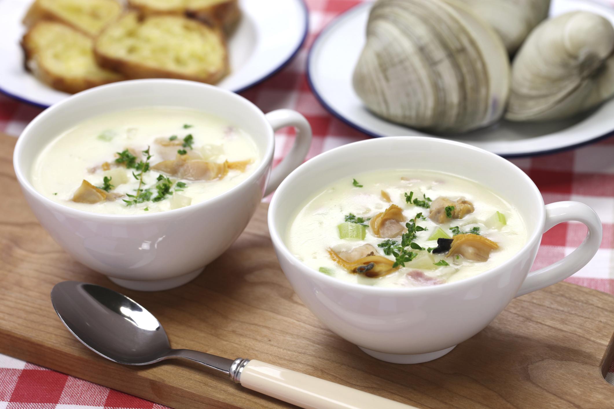 Sopa de almejas de Nueva Inglaterra (Clam Chowder)