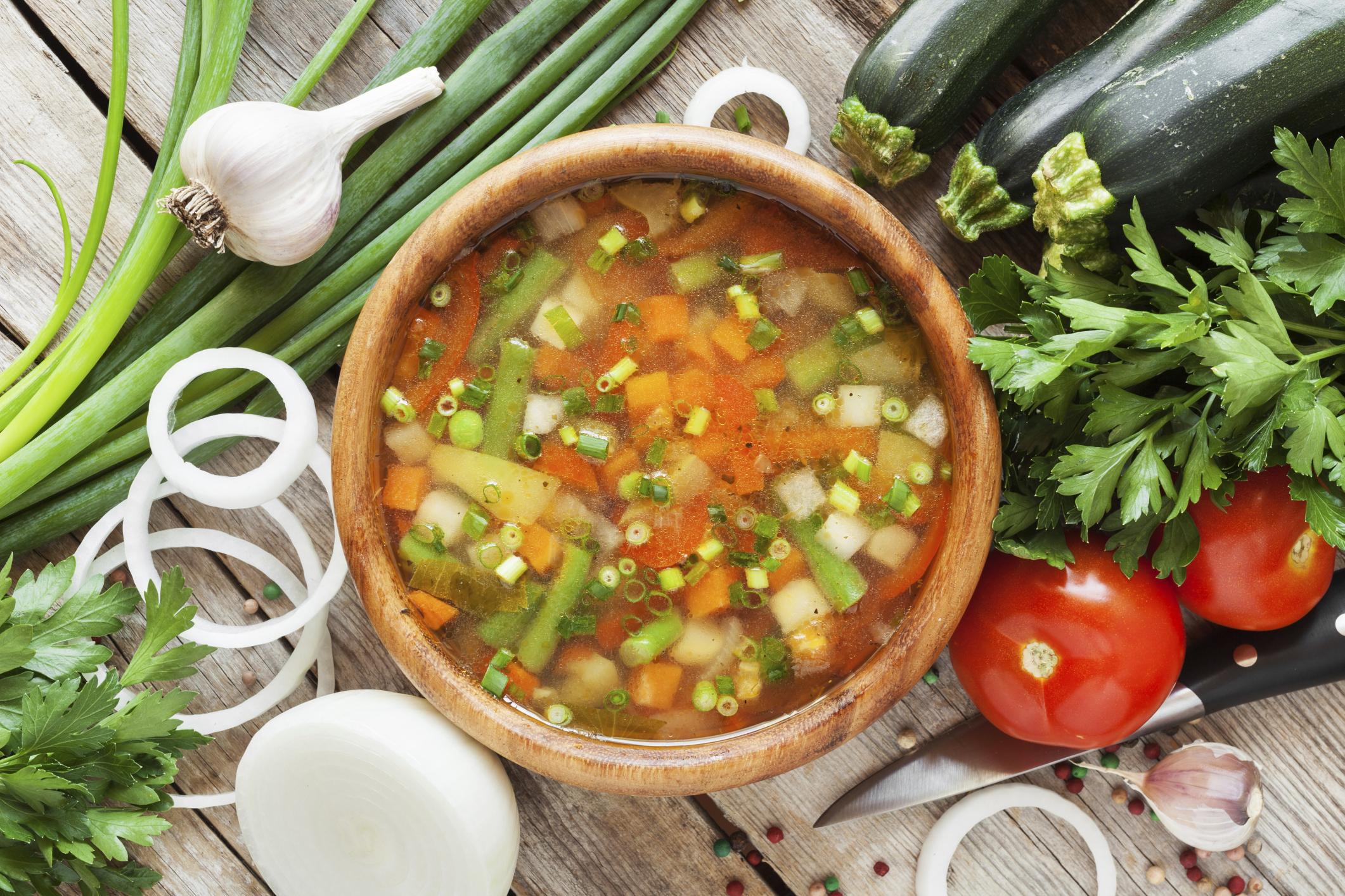 Sopa de Calabacín y Zanahorias