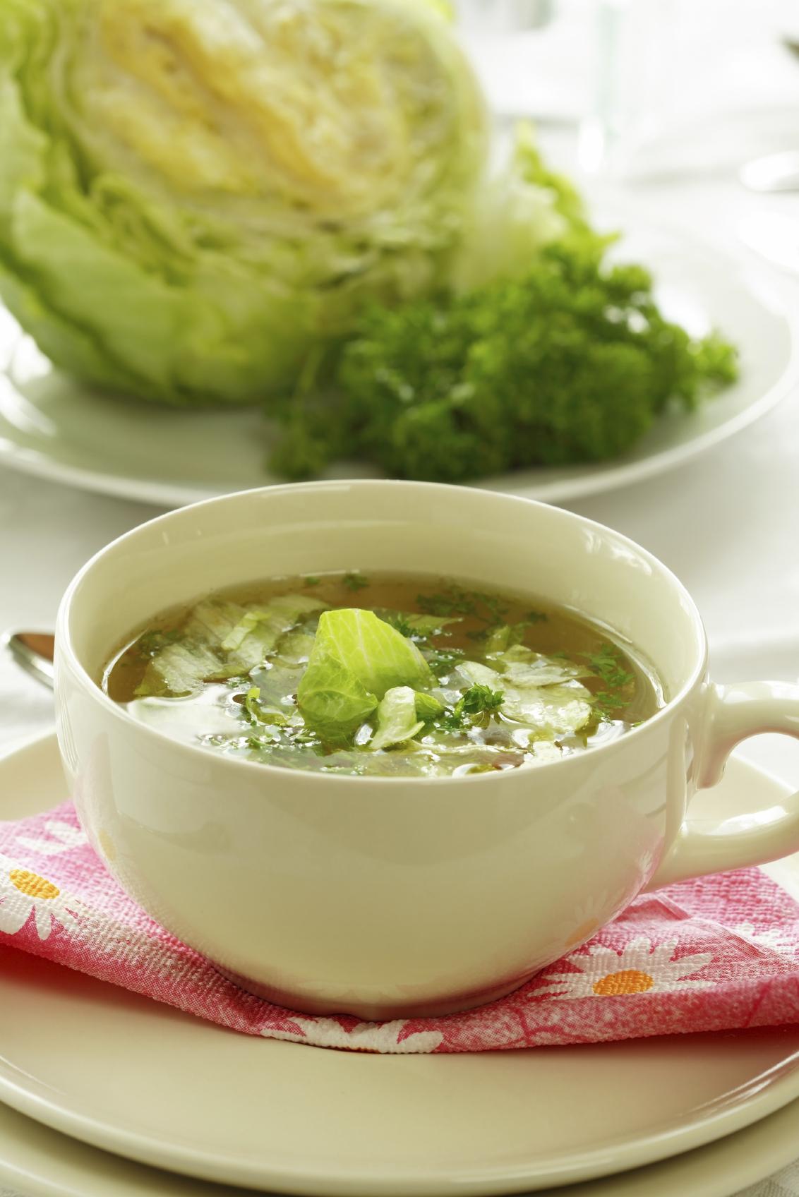 Sopa de col rizada con avena