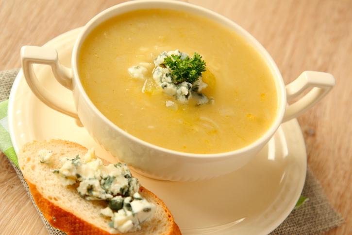 Sopa-crema de cebollas