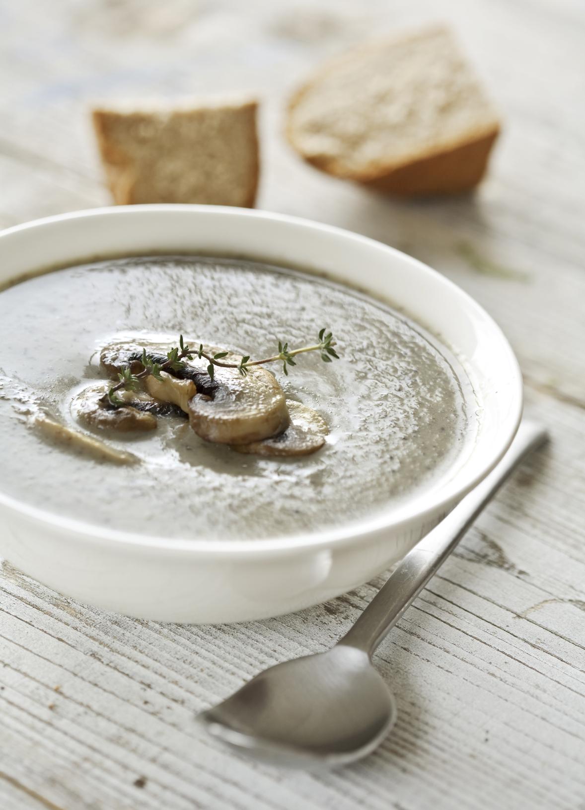 Sopa cremosa de setas