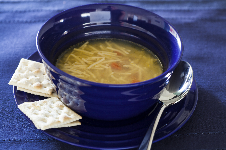 Sopa mexicana de fideos con pollo