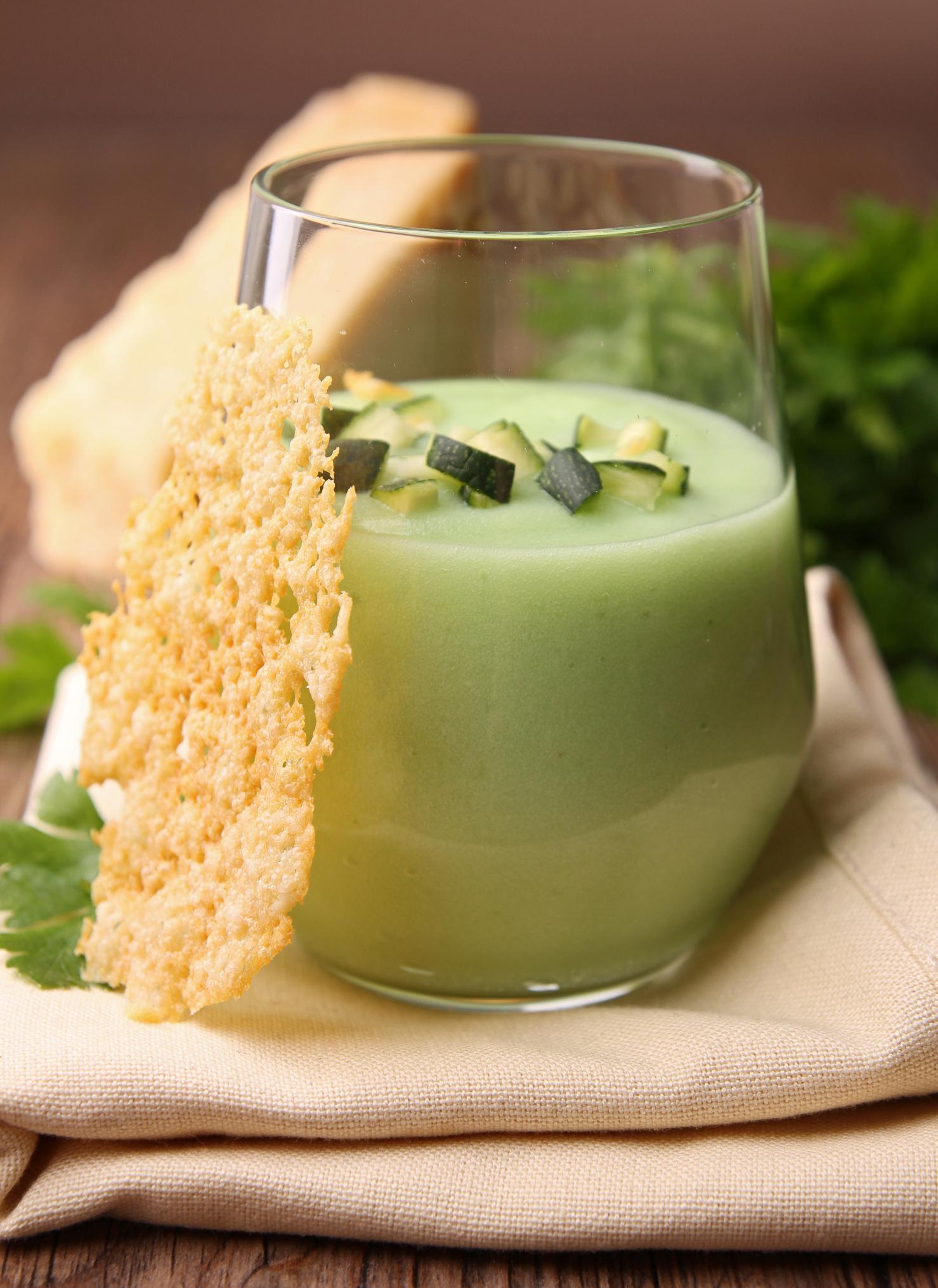 Sopa fría de calabacín