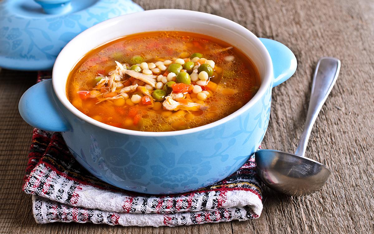 Sopa de pasta y verduras