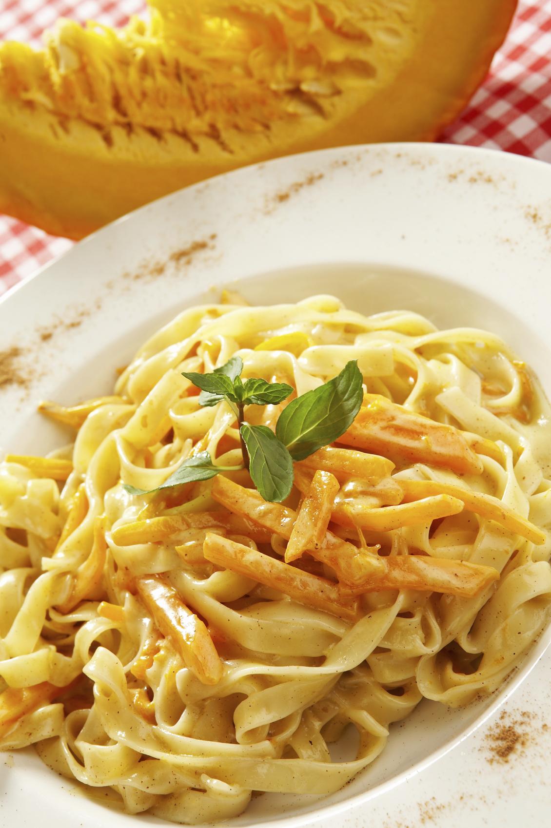 Spaghetti con calabaza