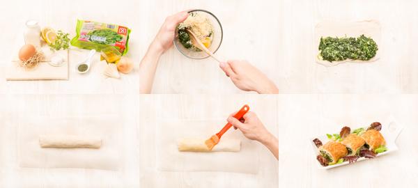 Spanakopita o pastel griego de espinacas y queso