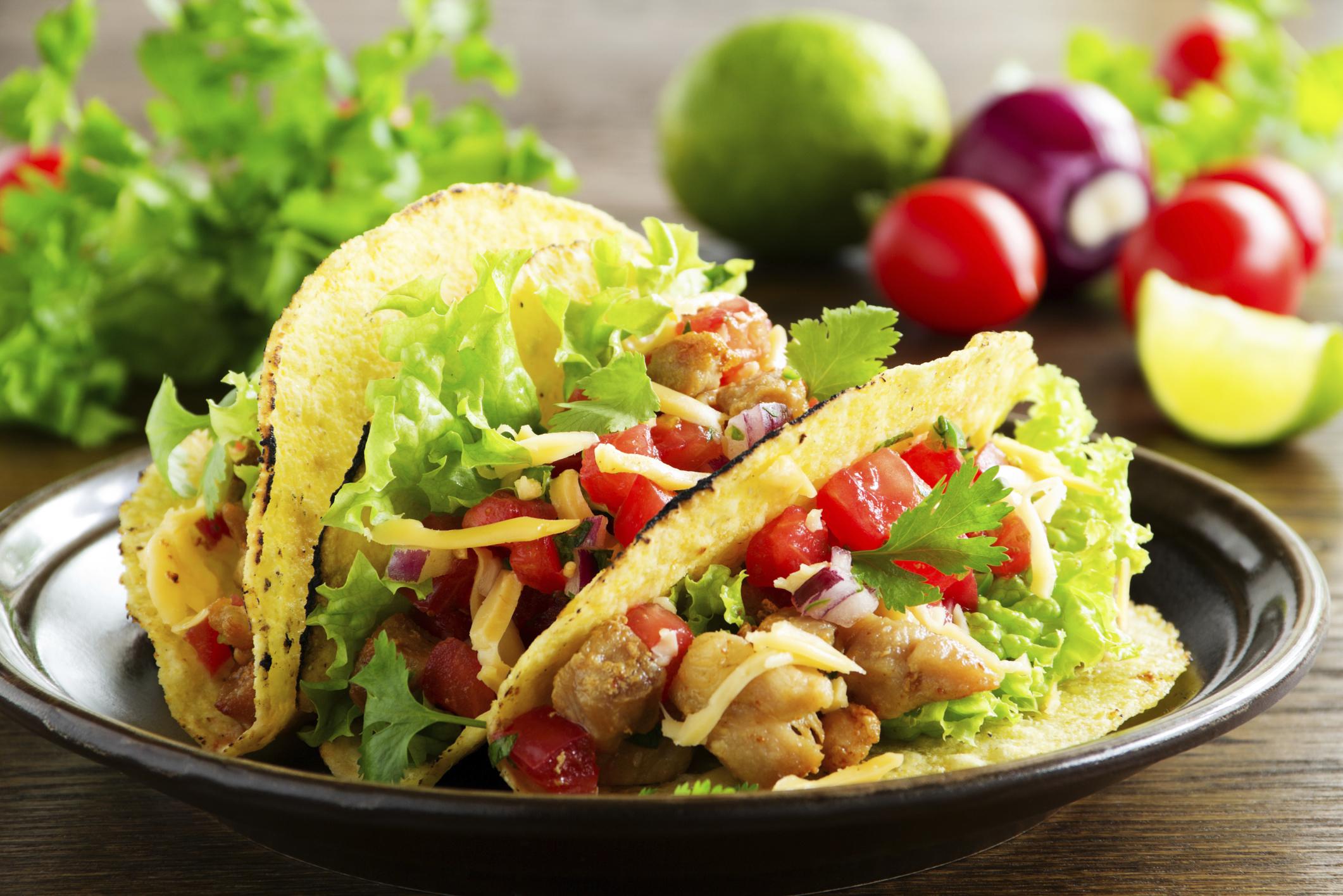 Tacos mexicanos muy picantes